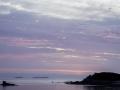 Port Blanc/soleil couchant