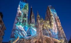 Rouen cathédrale de lumière
