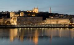 Lyon Fourvière Saône Confluence