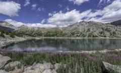 Allos sur le sentier des lacs glaciaires Parc du Mercantour